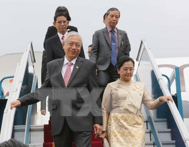 Visita del presidente de Myanmar promovera lazos con Vietnam hinh anh 1