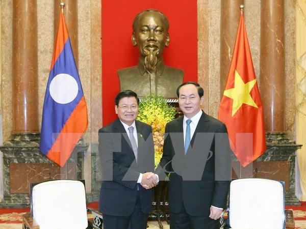 Presidente de Vietnam pide mas condiciones favorables para proyectos con Laos hinh anh 1