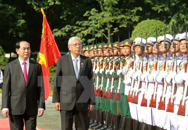 Vietnam y Myanmar robustecen lazos politicos y diplomaticos hinh anh 1