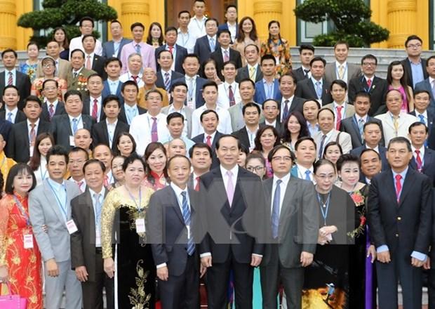 Presidente de Vietnam elogia rol de PYMES en economia nacional hinh anh 1