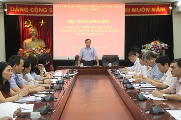 Seminario sobre divulgacion de informacion al exterior en redes sociales hinh anh 1