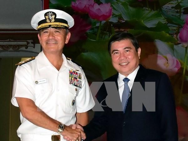 Comandante de EE.UU. aprecia apoyo vietnamita en busqueda de desaparecidos militares hinh anh 1