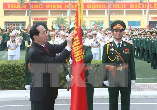 Academia de Tecnica Militar distinguida en su 50 aniversario de fundacion hinh anh 1