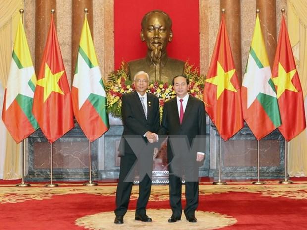 Presidente de Myanmar concluye visita a Vietnam hinh anh 1