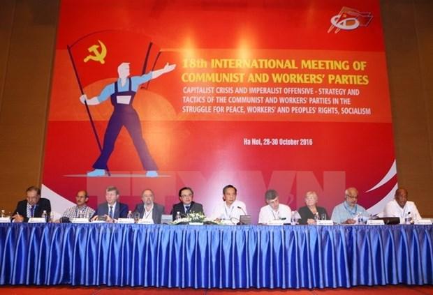 Clausuran XVIII Encuentro Internacional de Partidos Comunistas y Obreros hinh anh 1