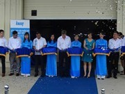Inauguran planta de yeso de mayor inversion extranjera en Hai Phong hinh anh 1