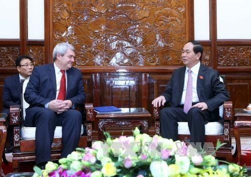 Presidente de Vietnam urge a fomentar relaciones partidistas con Republica Checa hinh anh 1