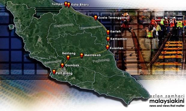 China invierte en proyecto ferroviario de la Costa Este de Malasia hinh anh 1
