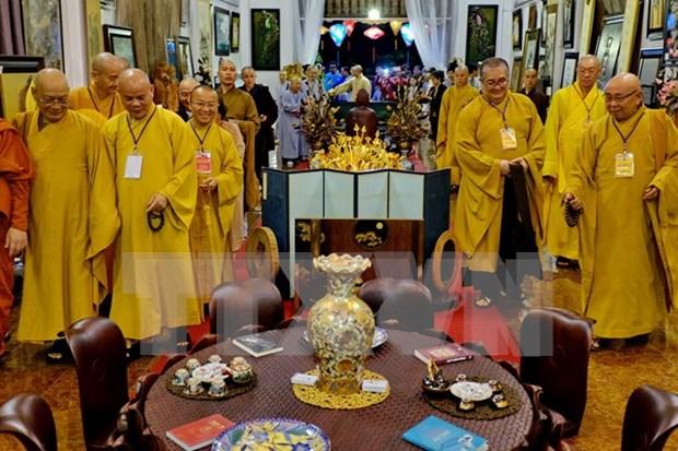 Celebran en Ciudad Ho Chi Minh aniversario de fundacion de Sangha Budista de Vietnam hinh anh 1