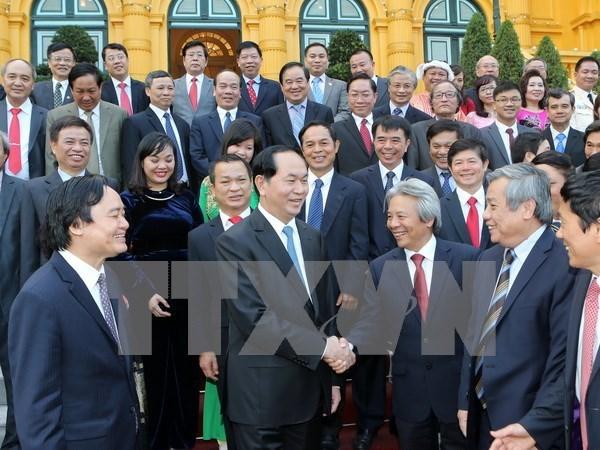 Presidente de Vietnam destaca aportes de intelectuales hinh anh 1