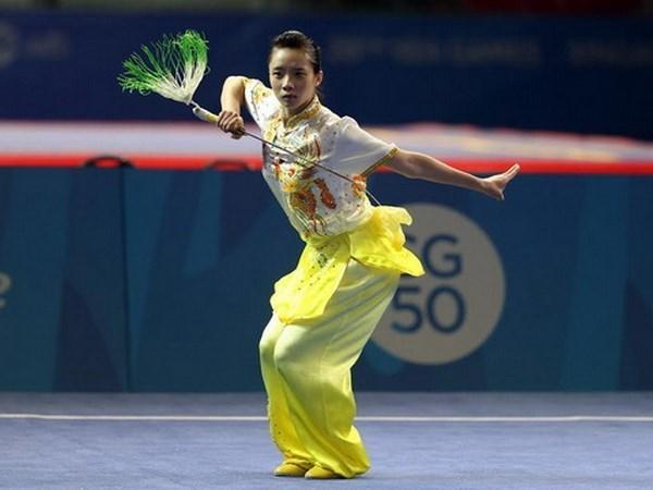 Vietnam gana medallas en la Copa Mundial de wushu hinh anh 1