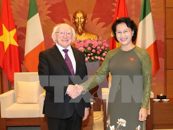 Presidenta parlamentaria pide a Irlanda mantener AOD a Vietnam hinh anh 1