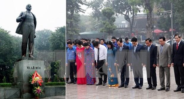 Conmemoran en Hanoi aniversario 99 de Revolucion de Octubre de Rusia hinh anh 1