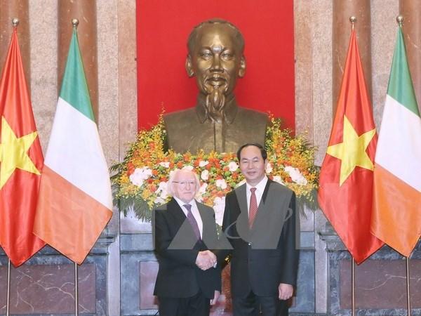 Visita del presidente irlandes insufla nuevo aliento a cooperacion con Vietnam hinh anh 1