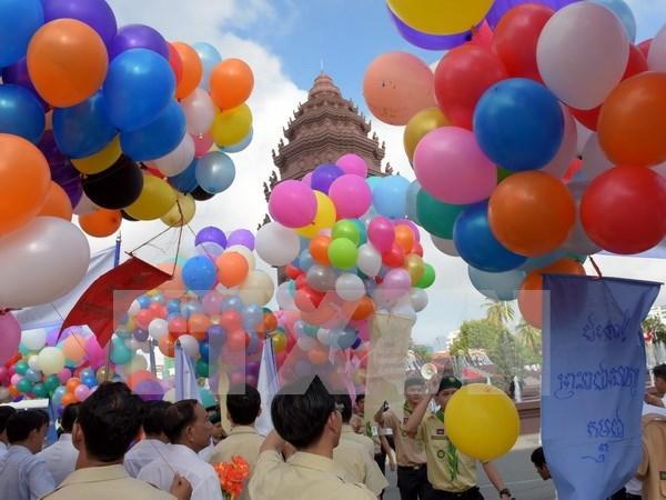 Camboya celebra 63 aniversario de Dia de Independencia hinh anh 1
