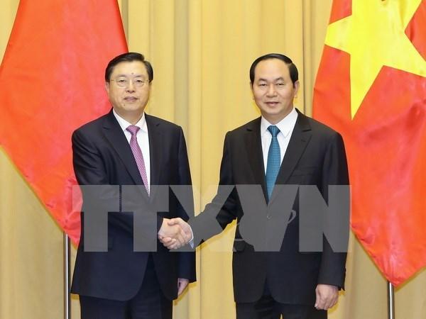 Vietnam concede importancia al fomento de nexos con China hinh anh 1