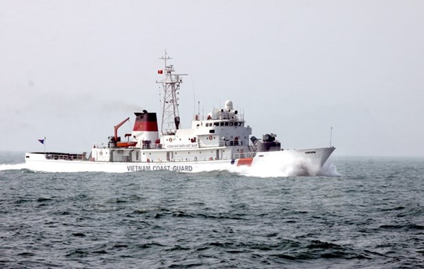 Barco de la guardia costera de China visita ciudad de Vietnam hinh anh 1