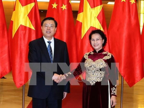 Presidente de la Asamblea Popular Nacional de China concluye visita a Vietnam hinh anh 1