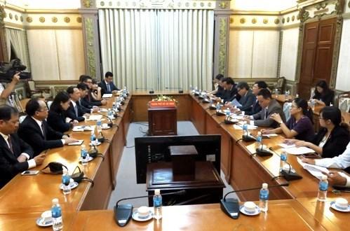 Fomentan cooperacion entre Ciudad Ho Chi Minh y provincia china de Shandong hinh anh 1