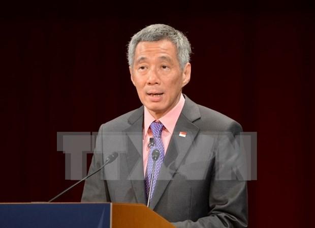 Primer ministro de Singapur visita Indonesia hinh anh 1