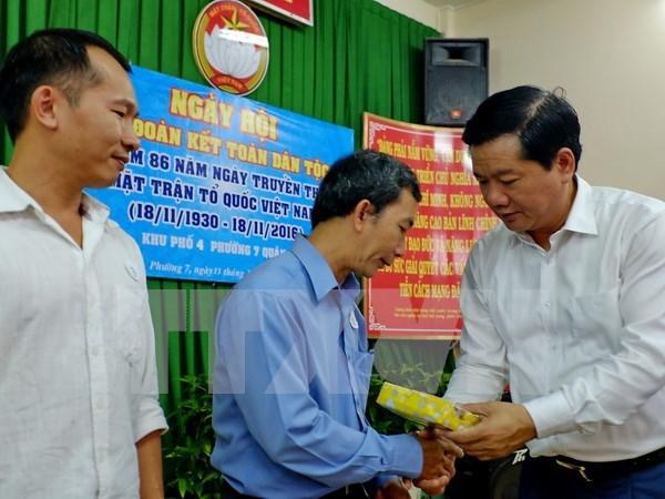 Dirigente partidista de Ciudad Ho Chi Minh asiste a fiesta de unidad nacional hinh anh 1
