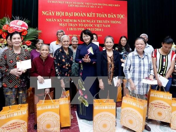 Vicepresidenta vietnamita asiste a fiesta de unidad nacional hinh anh 1