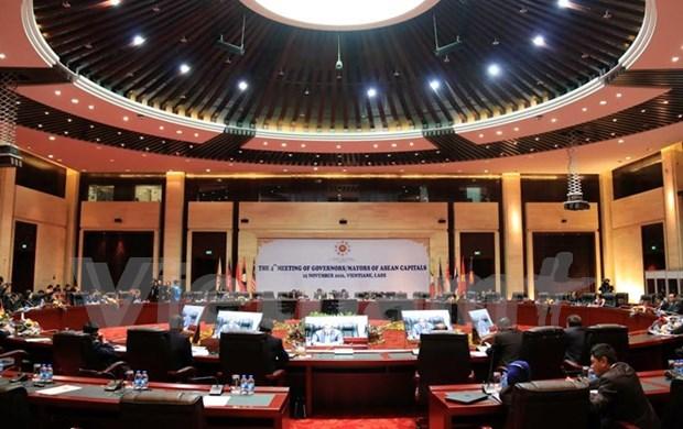Inauguran en Vientiane conferencia de alcaldes de ASEAN hinh anh 1