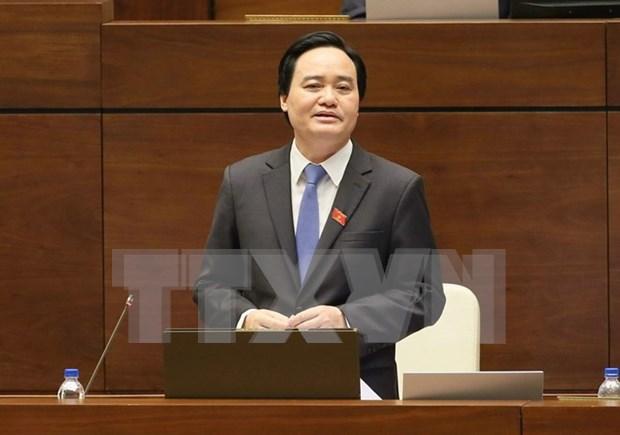 Ministro de Educacion y Formacion rinde cuentas ante Parlamento hinh anh 1