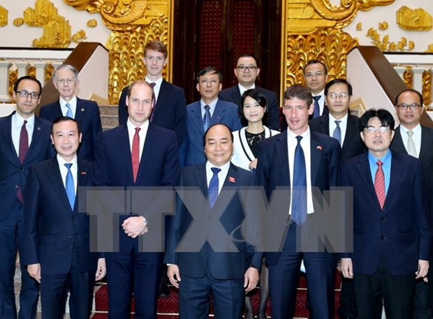 Premier de Vietnam recibe a duque de Cambridge hinh anh 1