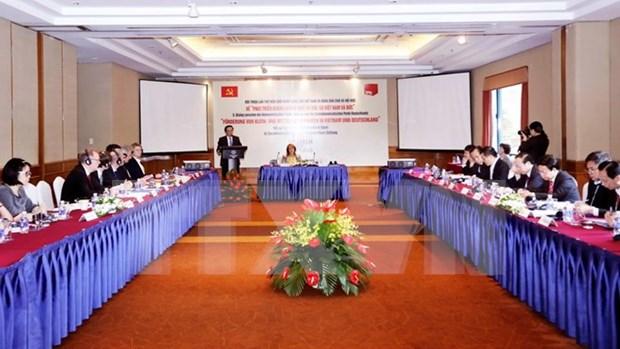 Partidos Comunista de Vietnam y Socialdemocrata de Alemania realizan quinto dialogo hinh anh 1
