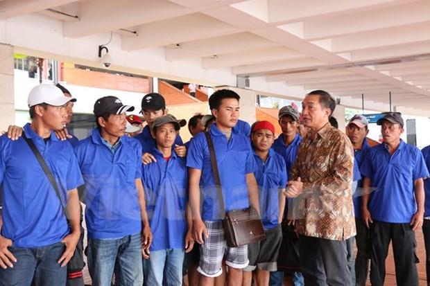 Indonesia repatria a 39 pescadores vietnamitas hinh anh 1