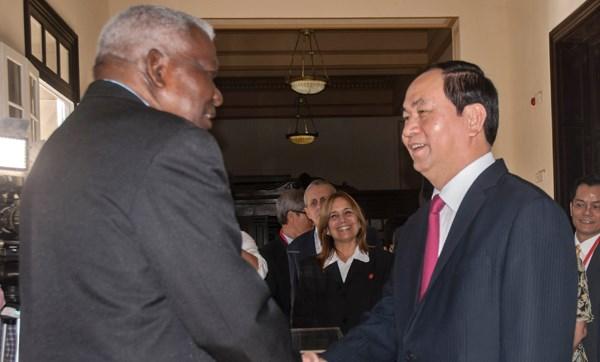 Presidente de Vietnam continua actividades en Cuba hinh anh 1