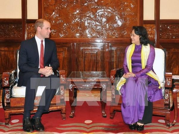 Reino Unido es socio importante de Vietnam, dice vicepresidenta hinh anh 1
