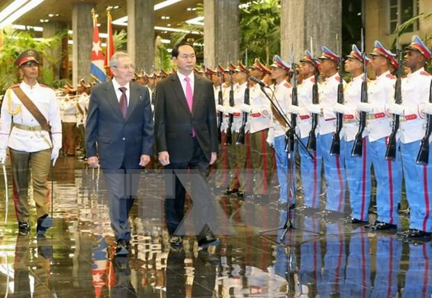 Presidentes de Vietnam y Cuba destacan avances en relaciones bilaterales hinh anh 1