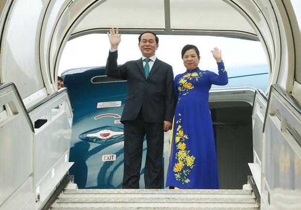 Presidente de Vietnam concluye visita a Cuba hinh anh 1