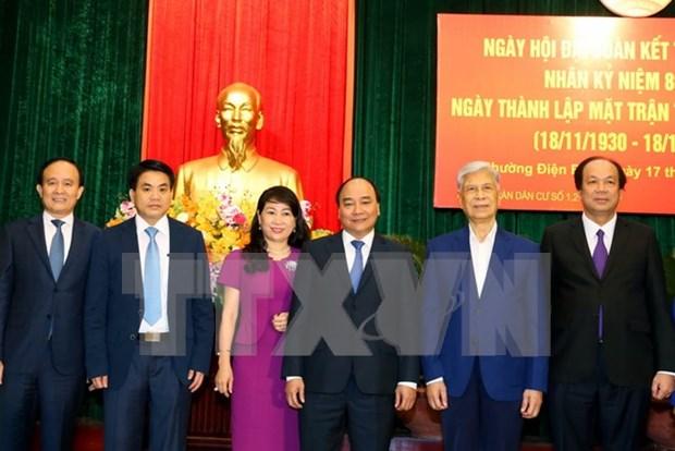 Premier vietnamita asiste a fiesta de gran unidad nacional hinh anh 1