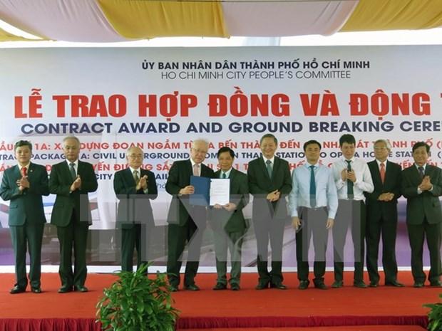 Inversiones millonarias para metro subterraneo en Ciudad Ho Chi Minh hinh anh 1