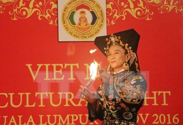 Presentan en Malasia rito del culto a la Diosa Madre del pueblo vietnamita hinh anh 1