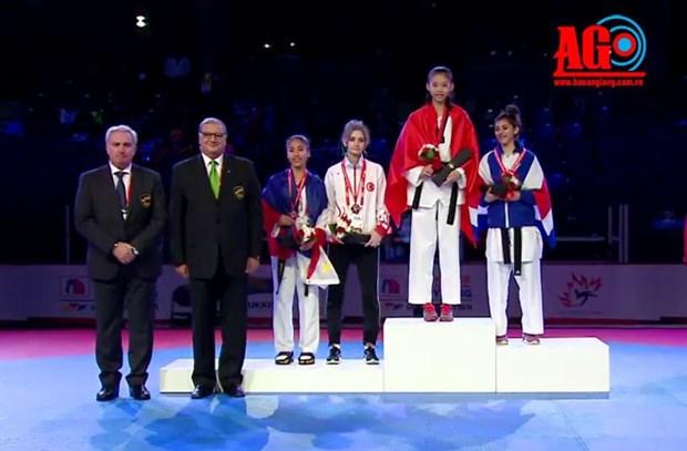 Vietnam gana medalla de oro en campeonato mundial de taekwondo hinh anh 1