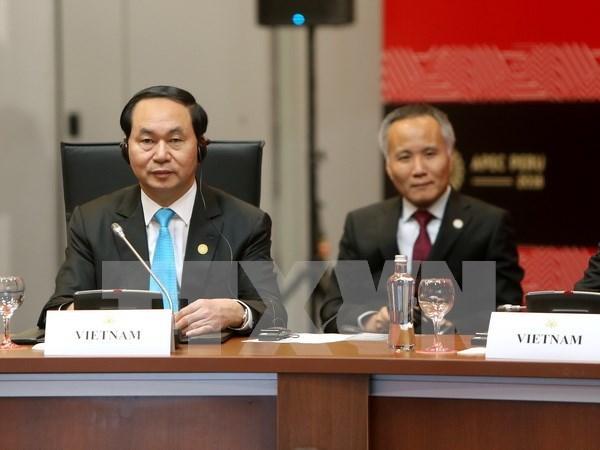 Presidente de Vietnam participa en actividades en Semana de Cumbre de APEC hinh anh 1