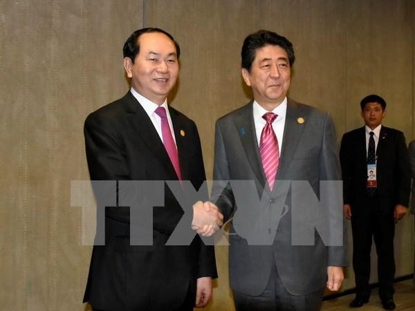 Vietnam y Japon acuerdan fomentar lazos en diversas esferas hinh anh 1