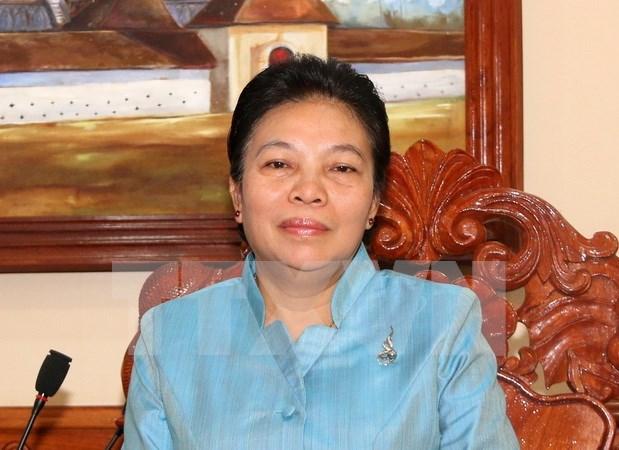 Visita del lider partidista de Vietnam a Laos elevara nexos bilaterales hinh anh 1