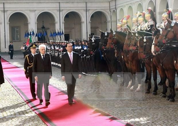 Vietnam e Italia acuerdan definir nuevas orientaciones de cooperacion hinh anh 1