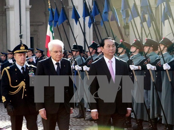 Presidente vietnamita asiste al Foro empresarial Vietnam-Italia hinh anh 1