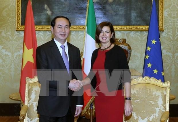 Presidente de Vietnam sugiere aprobacion por Italia del TLC con UE hinh anh 1