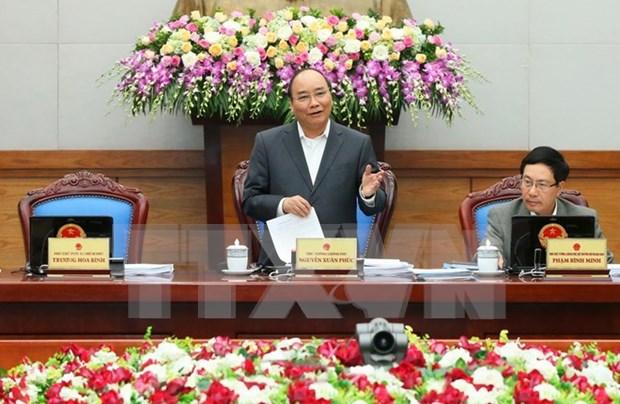 Premier insta a acelerar implementacion de tareas de desarrollo socioeconomico 2017 hinh anh 1