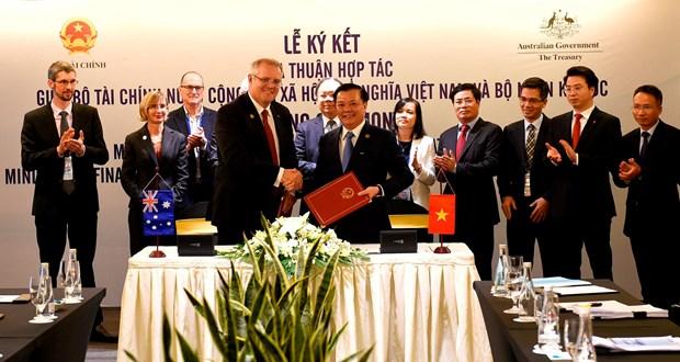 Vietnam y Australia firman acuerdo de cooperacion financiera hinh anh 1
