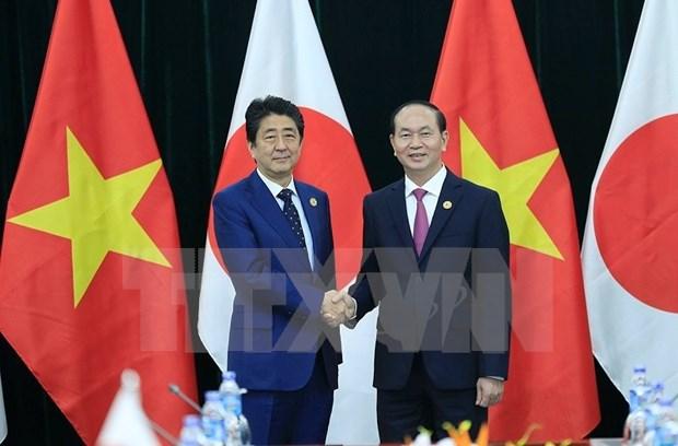 APEC 2017: Vietnam consolida relaciones bilaterales con Japon y Brunei hinh anh 1
