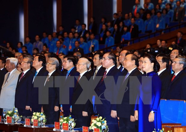 [Foto] Inauguran en Hanoi duodecimo Congreso Sindical de Vietnam hinh anh 3