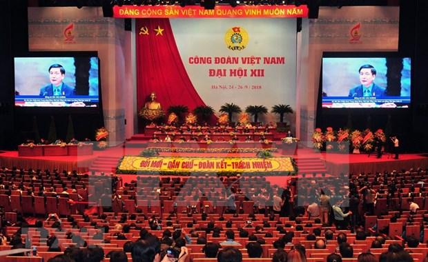 [Foto] Inauguran en Hanoi duodecimo Congreso Sindical de Vietnam hinh anh 5